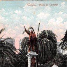 Postales: CÁDIZ.- PLAZA DE CASTELAR. Lote 54096254