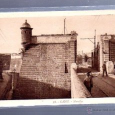 Postales: TARJETA POSTAL DE CADIZ - MURALLAS. 38. L.ROISIN. Lote 54175119