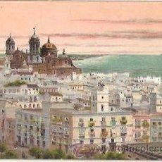 Postales: TARJETA POSTAL DE CADIZ. VISTA GENERAL. GARCIA RODRIGUEZ, 1904.. Lote 54244037