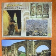 Postales: POSTAL - POSTALES DE CÓRDOBA (2): MEZQUITA - CATEDRAL Y MEDINAT AL-ZAHARA (MEDINA AZAHARA).. Lote 54274411