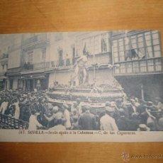Postales: ANTIGUA POSTAL SEMANA SANTA SEVILLA - JESUS ATADO COLUMNA - CIGARRERAS - NUM 517 MANUEL BARREIRO. Lote 54562996