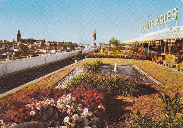 Sevilla El Corte Ingles Terraza Año 1968 Foto Disan