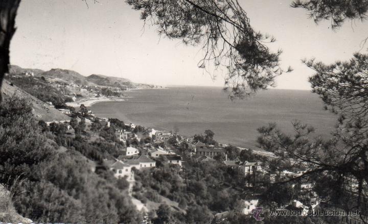 MALAGA.VISTA PARCIAL DE LA CALETA. FOTO D. CORTES. (Postales - España - Andalucia Moderna (desde 1.940))