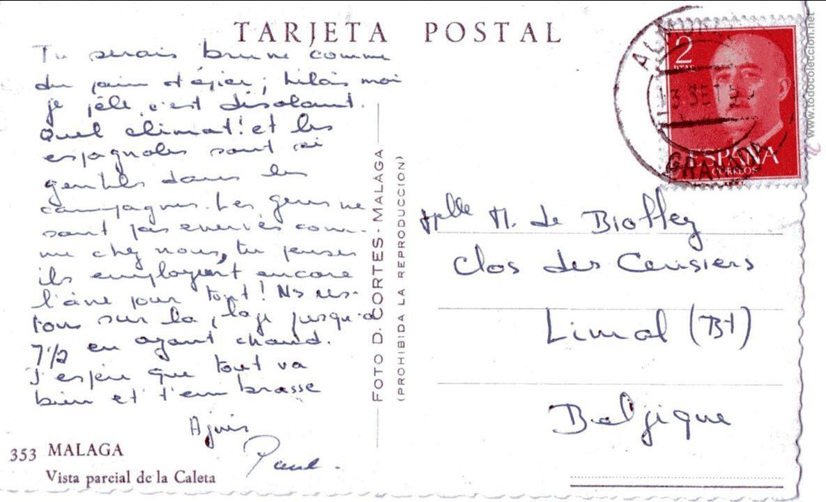 Postales: MALAGA.VISTA PARCIAL DE LA CALETA. FOTO D. CORTES. - Foto 2 - 54744246
