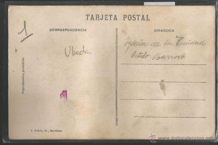 Postales: UBEDA - FOTOGRAFICA SELLO EN SECO ROISIN - VER REVERSO - (41762) - Foto 2 - 54769052