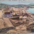 Postales: POSTAL EN COLOR MALAGA, LA MALAGUETA VISTA DESDE LA FAROLA, PURGER & CO. Lote 54865809