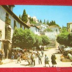 Postales: REALEJO (GRANADA) - CALLE TIPICA - MERCADILLO - POSTALES GRANADA SERIE 45 Nº 272 - AÑO 1966. Lote 55005501