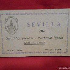 Postales: ANTIGUO LIBRO DE POSTALES DE -STA METROPOLITANA Y PATRIARCAL IGLESIA- - SEVILLA -. Lote 55339069
