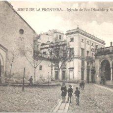 Postales: JEREZ DE LA FRONTERA IGLESIA DE SAN DIONISIO Y BIBLIOTECA PÚBLICA. Lote 17220133