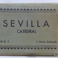 Postales: SEVILLA (CATEDRAL). ALBUM 20 VISTAS ACORDEON. L. ROISIN, SERIE 3. Lote 55349130