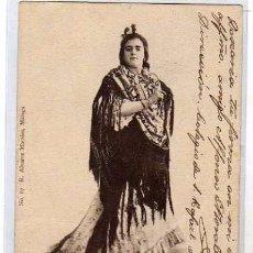 Postcards - Málaga. Una flamenca. Fot de Muchart. nº 67 R. Alvarez Morales. Reverso sin dividir. Circulada. - 55690108
