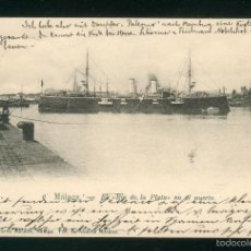 Postales: POSTAL DE MALAGA EL RIO DE LA PLATA EN EL PUERTO BARCO. Nº 77 R. ALVAREZ MORALES. SIN DIVIDIR.. Lote 56110474
