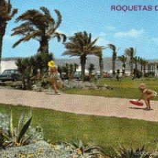 Postales: ROQUETAS DE MAR. ALMERIA. VISTA DEL PASEO. CIRCULADA . Lote 56316163