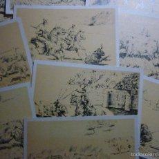 Postales: TAUROMAQUIA. COLECCIÓN COMPLETA DE 10 POSTALES AÑO 1968. ORIGINALES DE ANTONIO ROJAS.. Lote 56325727