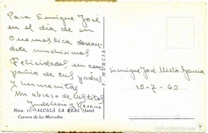 Postales: ALCALA LA REAL, JAEN, CARRERA DE LAS MERCEDES, EDIT.F.MURCIA - Foto 2 - 57985431
