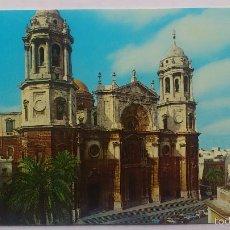 Postales: POSTAL CADIZ - CATEDRAL FACHADA PRINCIPAL. Lote 56712131