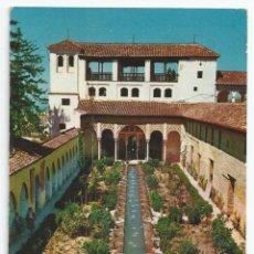 Postales: POSTAL GRANADA - GENERALIFE, PATIO DE LA ACEQUIA Y PALACIO AL FONDO - ARRIBAS 1962. Lote 56803341