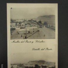 Postales: POSTAL ALGECIRAS. MUELLES DEL PUERTO Y GIBRALTAR. DETALLE DEL PUERTO. . Lote 56849718