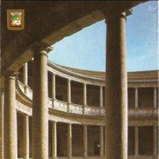 Postales: POSTAL 159 GRANADA ALHAMBRA PALACIO CARLOS V ESPAÑA DOMÍNGUEZ FISA ESCUDO DE ORO. Lote 56860155