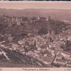 Postales: POSTAL 106.GRANADA.VISTA GENERAL ALHAMBRA.( ED.ROISIN FOT.BARCELONA). Lote 56890340