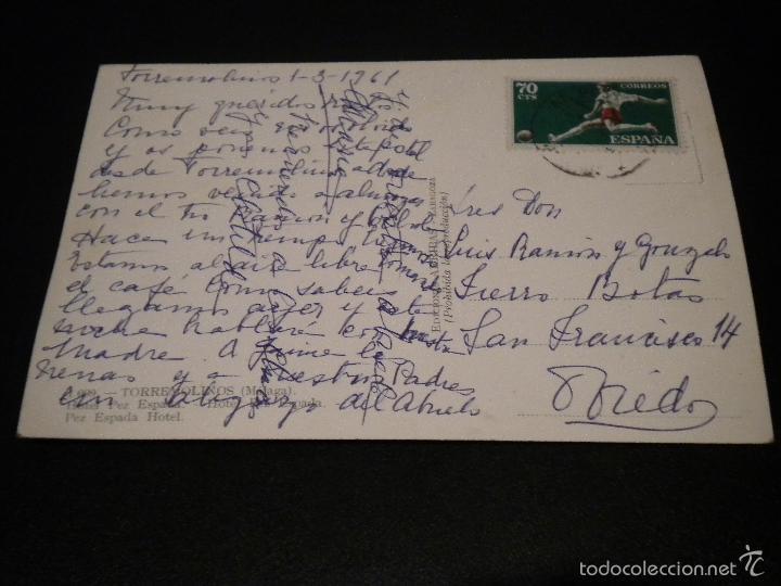 Postales: Postal Malaga - torremolinos, hotel pez espada / nº 1099 / 1961 / arribas - Foto 2 - 56915329