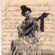 Postcards - Málaga. Un gran tocaora. nº63 R. Alvarez Morales. Fot de Muchart. Reverso sin dividir. Circulada. - 56962913