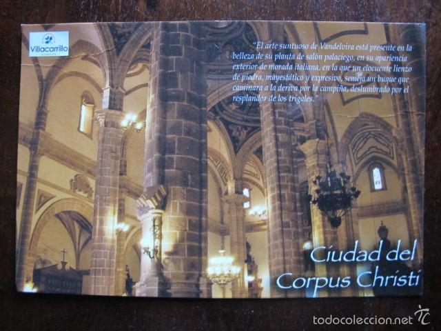 POSTAL VILLACARRILLO CIUDAD DEL CORPUS CHRISTI JAEN (Postales - España - Andalucia Moderna (desde 1.940))