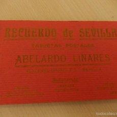 Postales: RECUERDO DE SEVILLA. BLOCK DE POSTALES. ABELARDO LINARES.. Lote 57011222