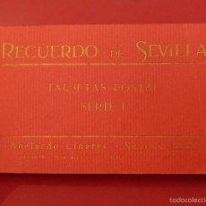 Postales: RECUERDO DE SEVILLA. SERIE I. BLOCK DE POSTALES. ABELARDO LINARES.. Lote 57011299