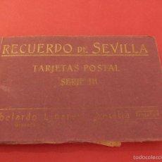 Postales: RECUERDO DE SEVILLA. SERIE III. BLOCK DE POSTALES. ABELARDO LINARES.. Lote 57011399