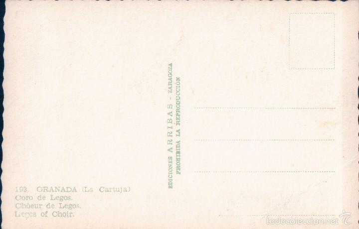 Postales: POSTAL 193.GRANADA. CORO DE LEGOS(Arribas) - Foto 2 - 57057292
