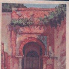 Postales: POSTAL GRANADA PUERTA DE LA JUSTICIA(INTERIOR) PUBLICIDAD REVERSO TINTORERIA EL AGUILA REAL.. Lote 57072476