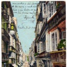 Postales: PRECIOSA POSTAL - CADIZ - CALLE DUQUE DE TETUAN - AMBIENTADA . Lote 57123442
