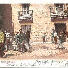 Postales: CADIZ TIPOS GADITANOS 1908. Lote 57266925