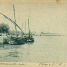 Postales: PUERTO DE SANTA MARÍA. MUELLE. CIRCULADA EN 1904 A FRANCIA.. Lote 57389626