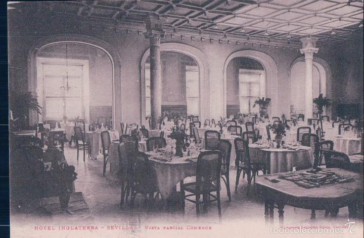 SEVILLA - HOTEL INGLATERRA - VISTA PARCIAL COMEDOR. L F (Postales - España - Andalucía Antigua (hasta 1939))