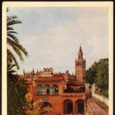 Postales: 27 - SEVILLA - REALES ALCAZARES.- LA GIRALDA DESDE LOS RR. ALCAZARES. Lote 57429477