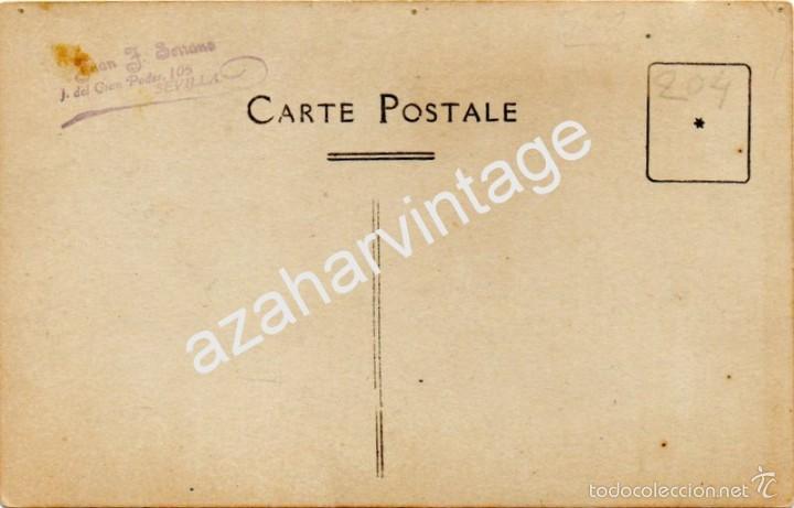 Postales: SEVILLA, AÑOS 20, COCHES DE CABALLO EN LA FERIA DE ABRIL, FOTOGRAFICA, JUAN JOSE SERRANO - Foto 2 - 57482769