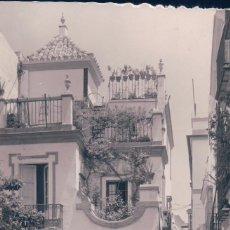 Postales: POSTAL FOTOGRAFICA 51 SEVILLA.- BARRIO DE SANTA CRUZ, PLAZA DE DOÑA ELVIRA. CIRCULADA. G.GARRABELLA. Lote 57483738