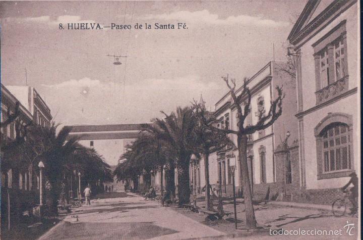 POSTAL 8 HUELVA.- PASEO DE LA SANTA FE. PAPELERIA DIARIO DE HUELVA (Postales - España - Andalucía Antigua (hasta 1939))