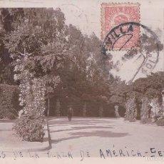 Postales: POSTAL FOTOGRAFICA JARDINES DE LA PLZA DE AMERICA - SEVILLA - CIRCULADA - VER REVERSO. Lote 57534566