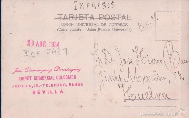 Postales: POSTAL FOTOGRAFICA JARDINES DE LA PLZA DE AMERICA - SEVILLA - CIRCULADA - VER REVERSO - Foto 2 - 57534566