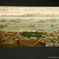 Postales: POSTAL GIBRALTAR COLOREADA HARBOUR AND SHIPS OF WAR BEANLAND MALIN & CO 1908. Lote 57680723
