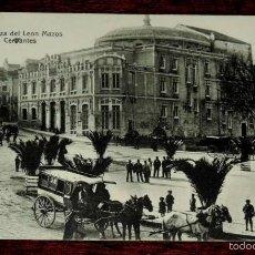 Postkarten - JAEN, PLAZA DEL LEON MAZOS, TEATRO CERVANTES, A. MORTOS, ESCRITA Y CIRCULADA SIN SELLO. - 57695014