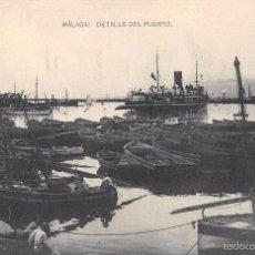 Postales: MÁLAGA.- DETALLE DEL PUERTO. Lote 57703227