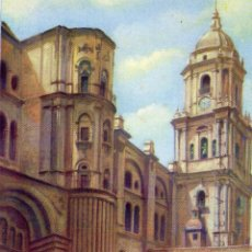 Postales: MALAGA. CATEDRAL Y PATIO DE LAS CADENAS. NO CIRCULADA. Lote 57758722