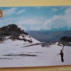 Postales: 1713 SPAIN ESPAÑA ESPAGNE ANDALUCIA GRANADA SIERRA NEVADA ALBERGUES Y PEÑON DE SAN FRANCISCO. Lote 57835850