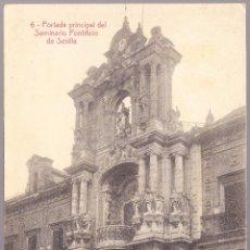Postales: SEVILLA PORTADA PRINCIPAL DEL SEMINARIO PONTIFICIO. Lote 57929172