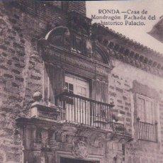 Postales: POSTAL RONDA.-CASA DE MONDRAGON, FACHADA DEL HISTORICO PALACIO. GRAFOS. Lote 57950866