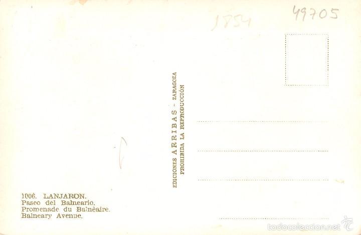 Postales: LANJARON - PASEO DEL BALNEARIO - ARRIBAS Nº1006 - ANIMADA - COCHES (1) - Foto 2 - 57952097
